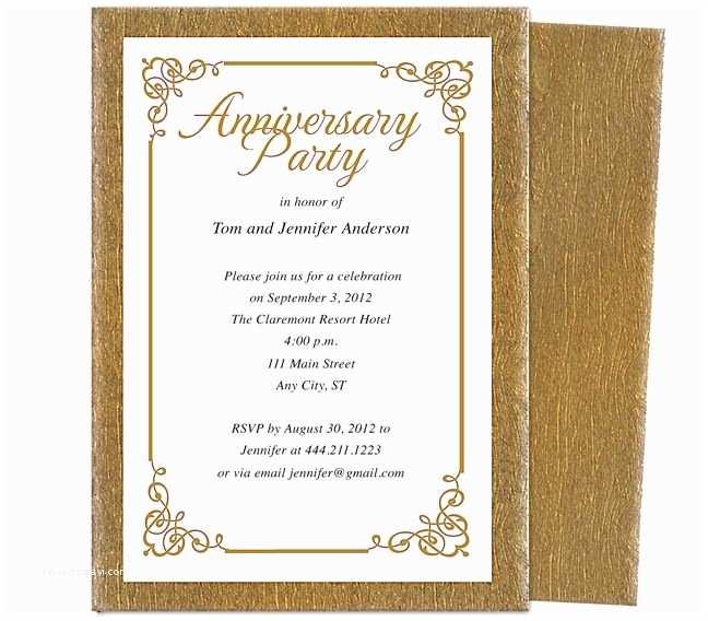 50th Wedding Invitation Templates 9 Best 25th & 50th Wedding Anniversary Invitations