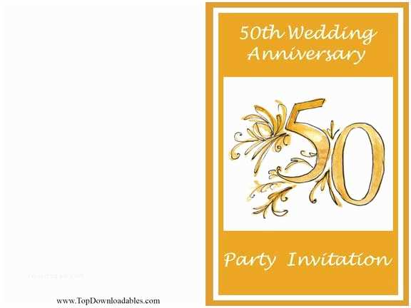 50th Wedding Invitation Templates Free Wedding Anniversary Invitation Template
