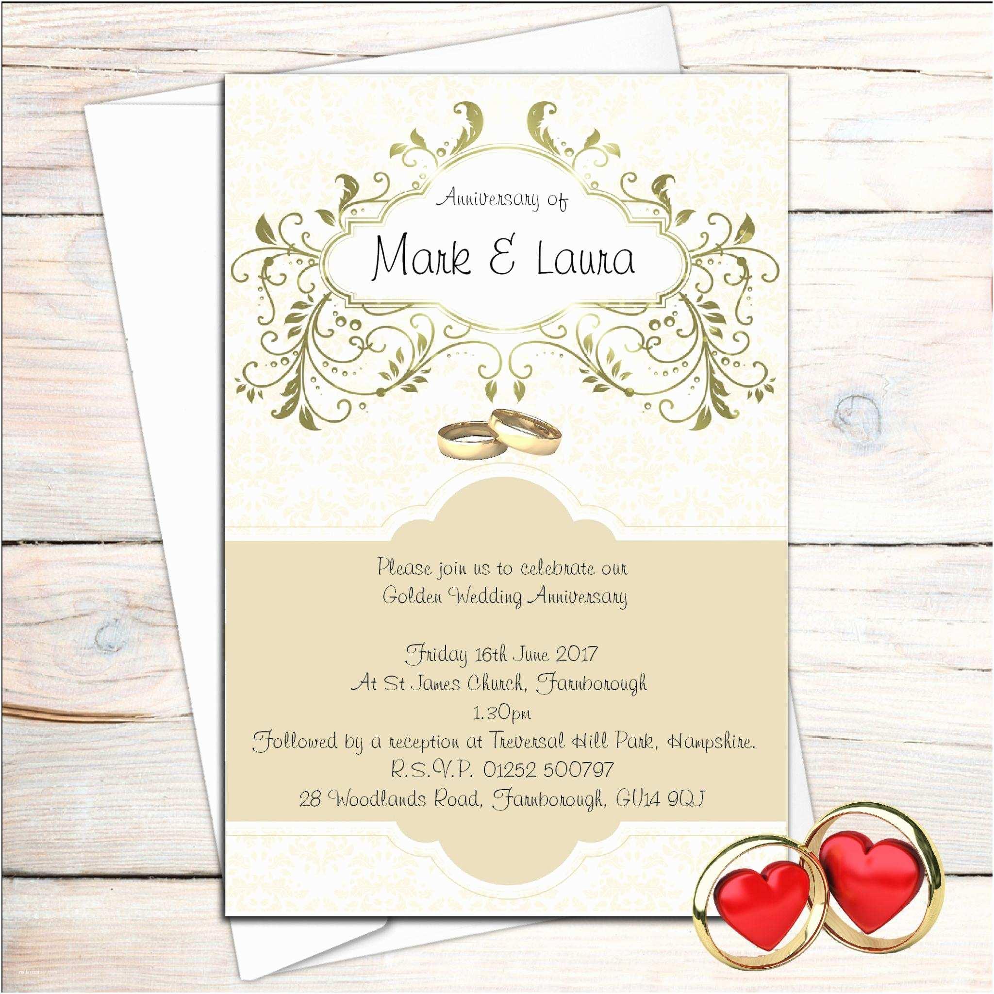 50th Wedding Invitation Templates Golden Wedding Anniversary Invitations 50th Wedding