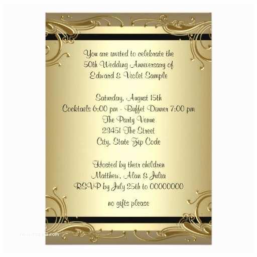 50th Wedding Invitation Templates Wedding Invitation Wording 50th Wedding Anniversary Party