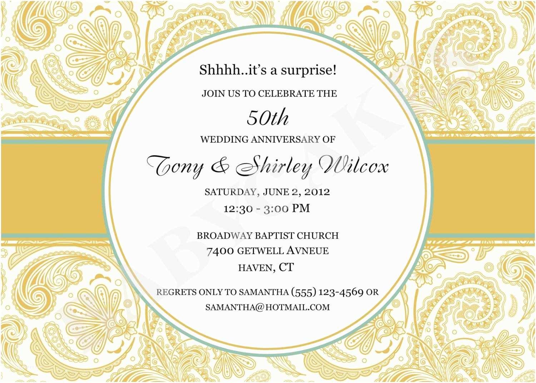 50th Wedding Invitations 50 Wedding Anniversary Invitation 50th Wedding