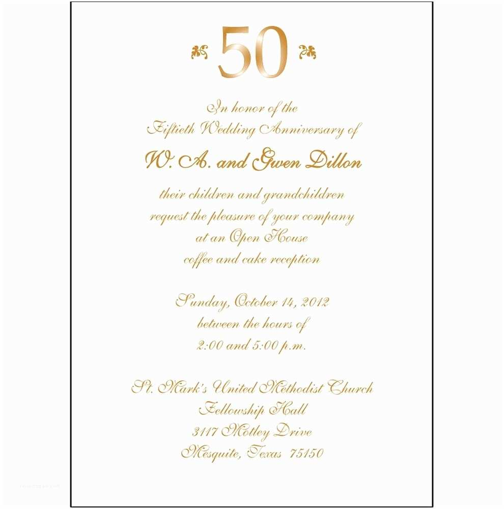 50th Wedding Invitations 50th Anniversary Party Invitations Template
