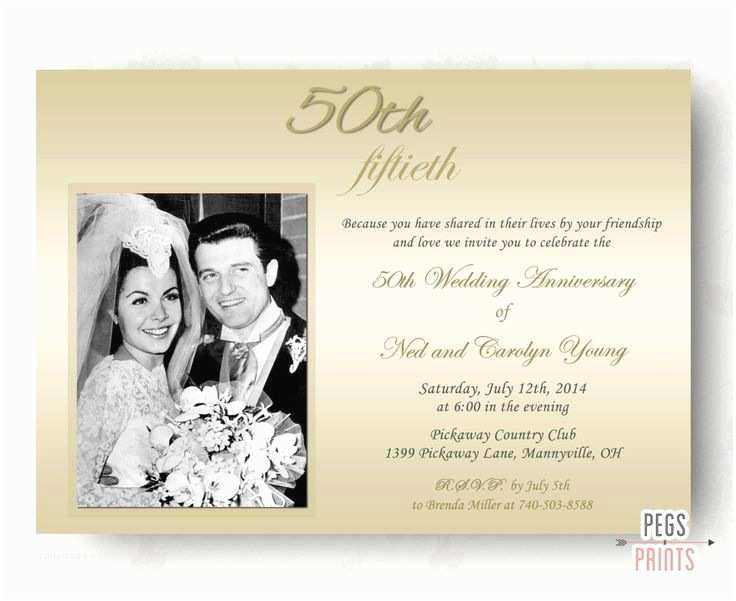 50th Wedding Invitations Best 25 Wedding Anniversary Invitations Ideas On