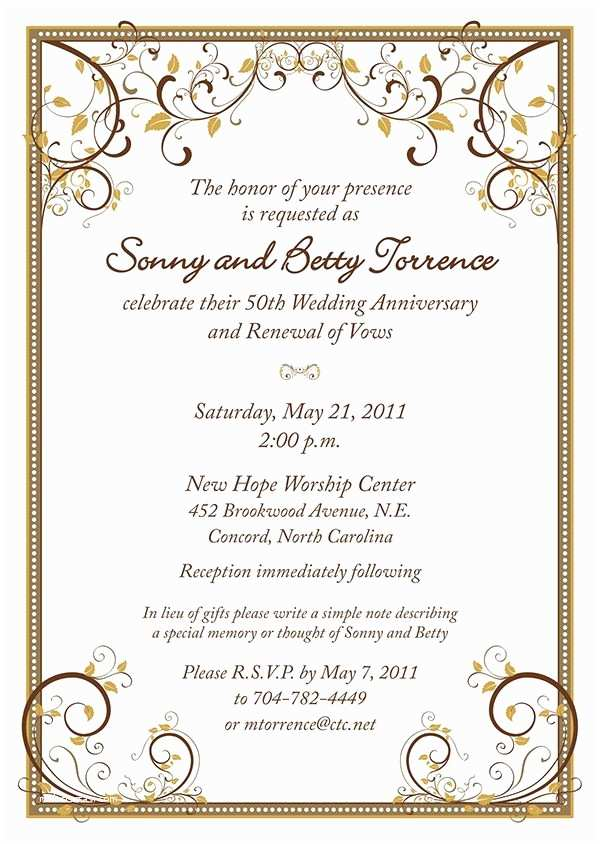 50th Wedding Invitations Designs 17 Best Images About 50th Anniversary Party On Pinterest