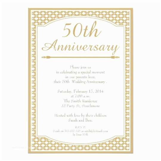 50th Wedding Invitations Designs 50th Anniversary Invitation – orderecigsjuicefo
