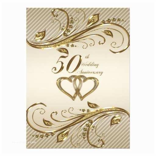 "50th Wedding Invitations Designs 50th Wedding Anniversary Invitation Card 5 5"" X 7 5"