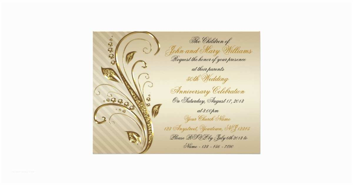 50th Wedding Invitations Designs 50th Wedding Anniversary Invitation Card
