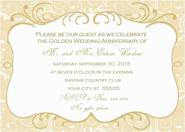 50th Wedding Invitations Designs 50th Wedding Anniversary Invitation