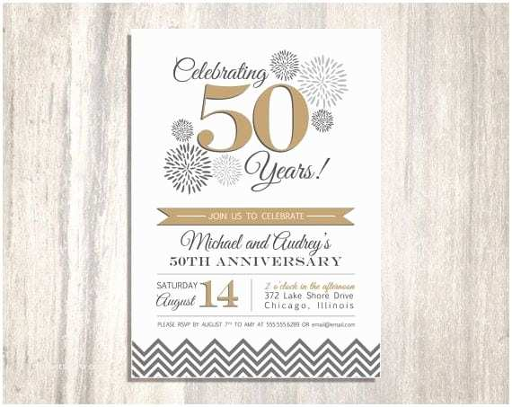 50th Wedding Invitations Designs 50th Wedding Anniversary Printable Invitation
