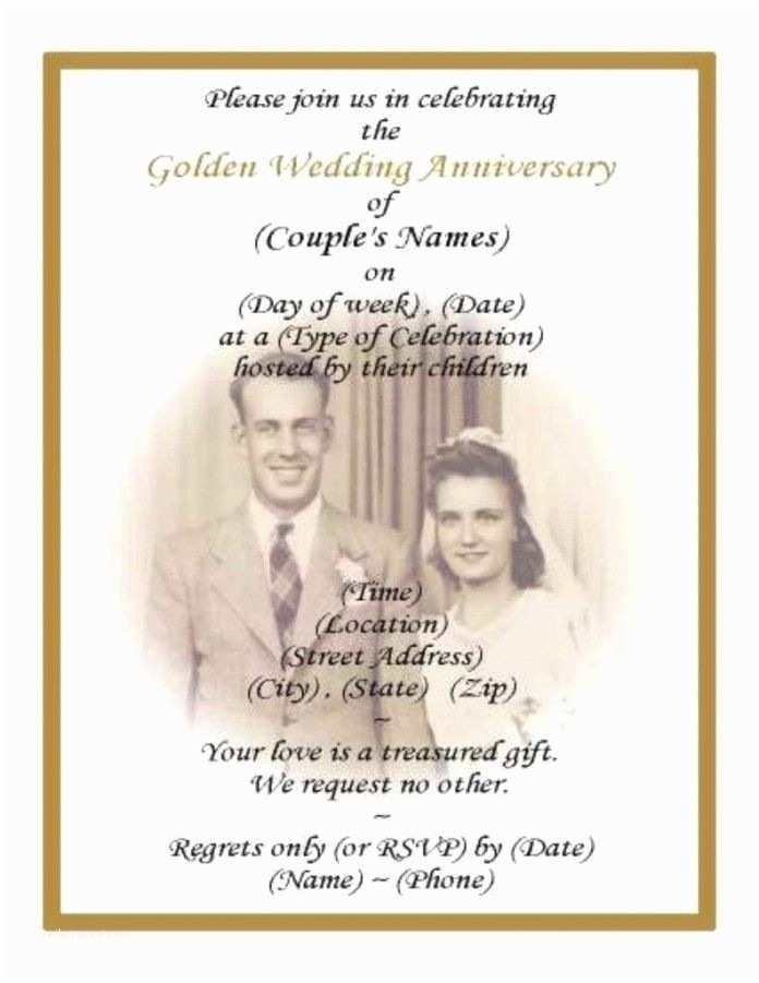 50th Wedding Invitations Designs 50th Wedding Anniversary Program Wording