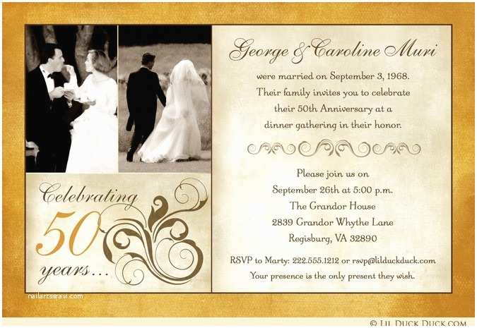 50th Wedding Invitations Designs Fashionable 50th Anniversary Invitation Design