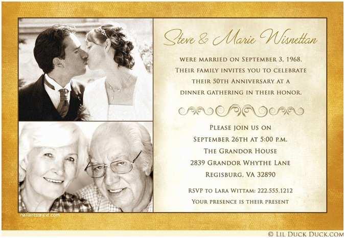 50th Wedding Invitations Designs Fashionable 50th Anniversary Invitation Design