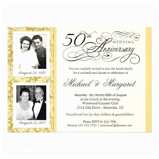 50th Wedding Invitations Designs Personalized 50th Anniversary Invitations