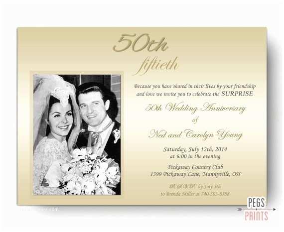 50th Wedding Invitations Designs Surprise Wedding Anniversary Invitation Surprise 50th