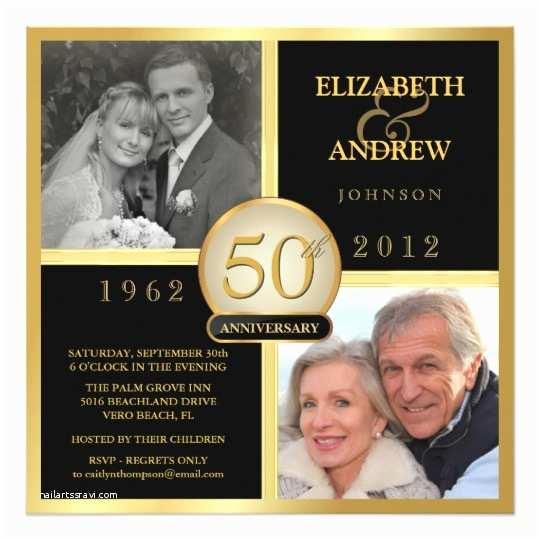 50th Wedding Invitations Elegant 50th Wedding Anniversary Invitations
