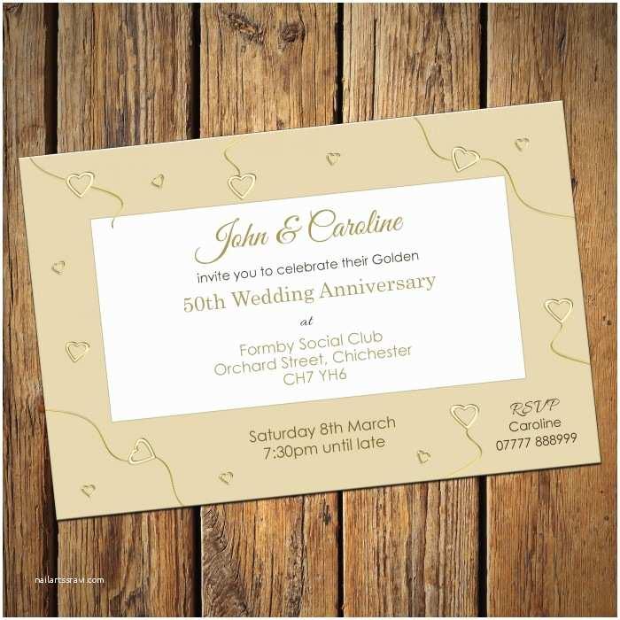 50th Wedding Invitations Golden Wedding Invitation Cards