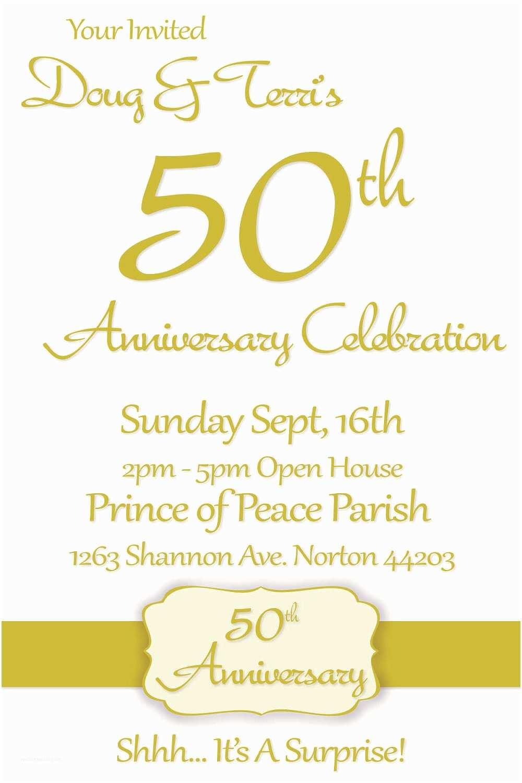 50th Wedding Invitations Simple 50th Wedding Anniversary Invitation Card with White