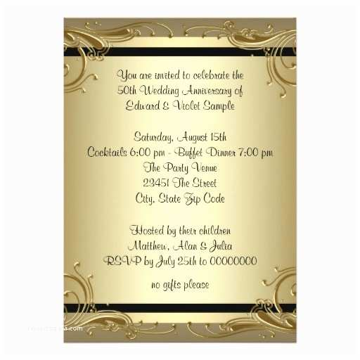 50th Wedding Invitations Invitation Wording Anniversary Party