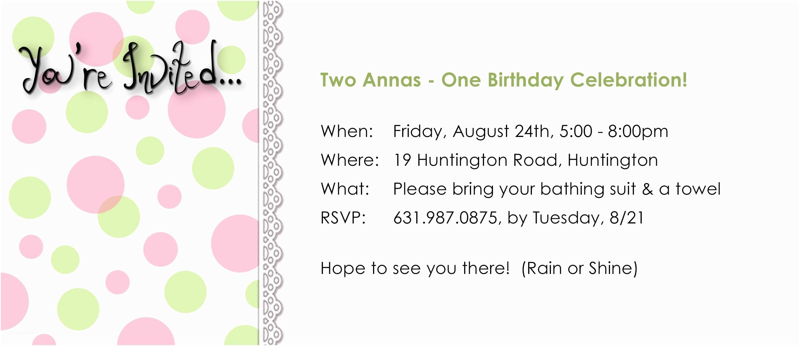 5th Birthday Invitation Wording 5th Birthday Party Invitation
