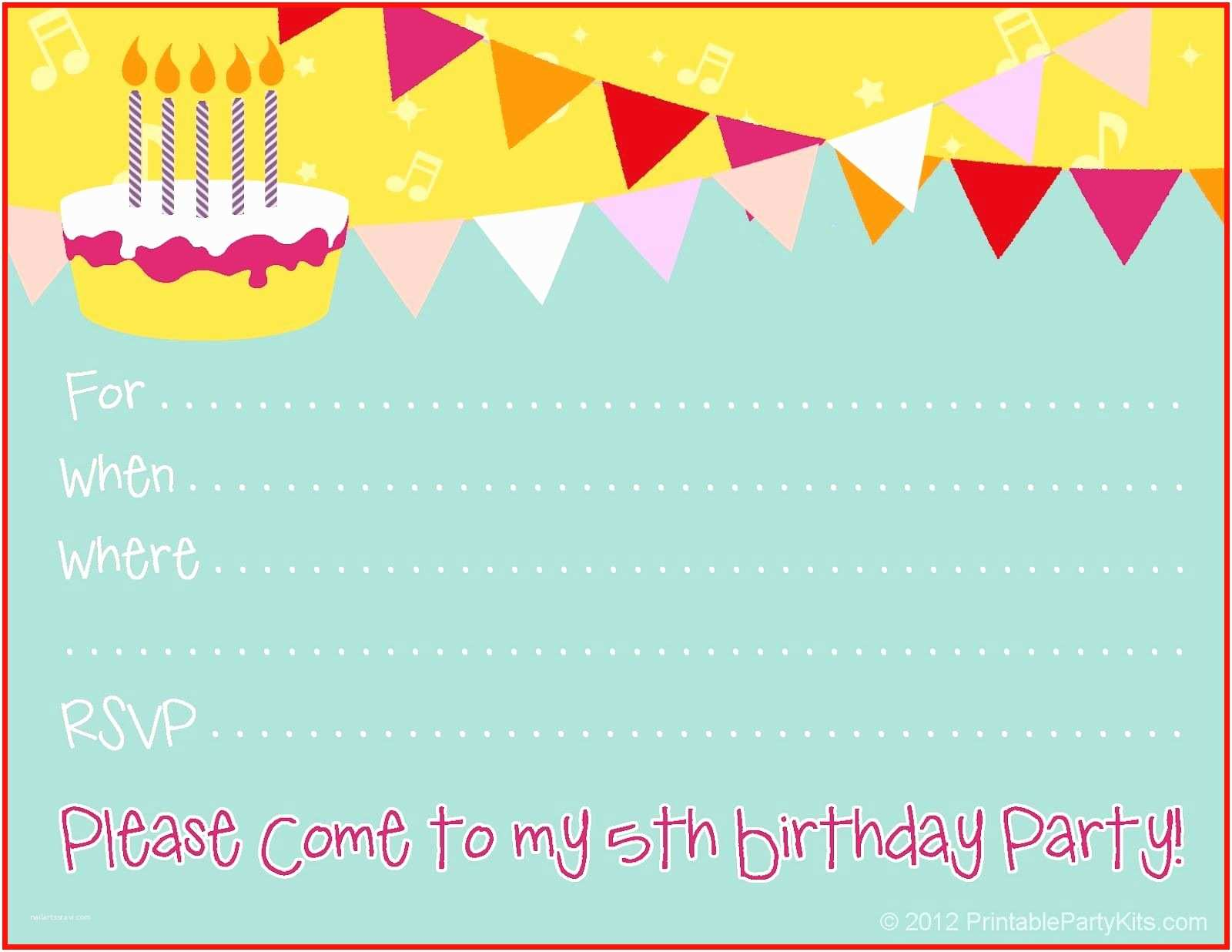 5th Birthday Invitation Wording For Girl Baby