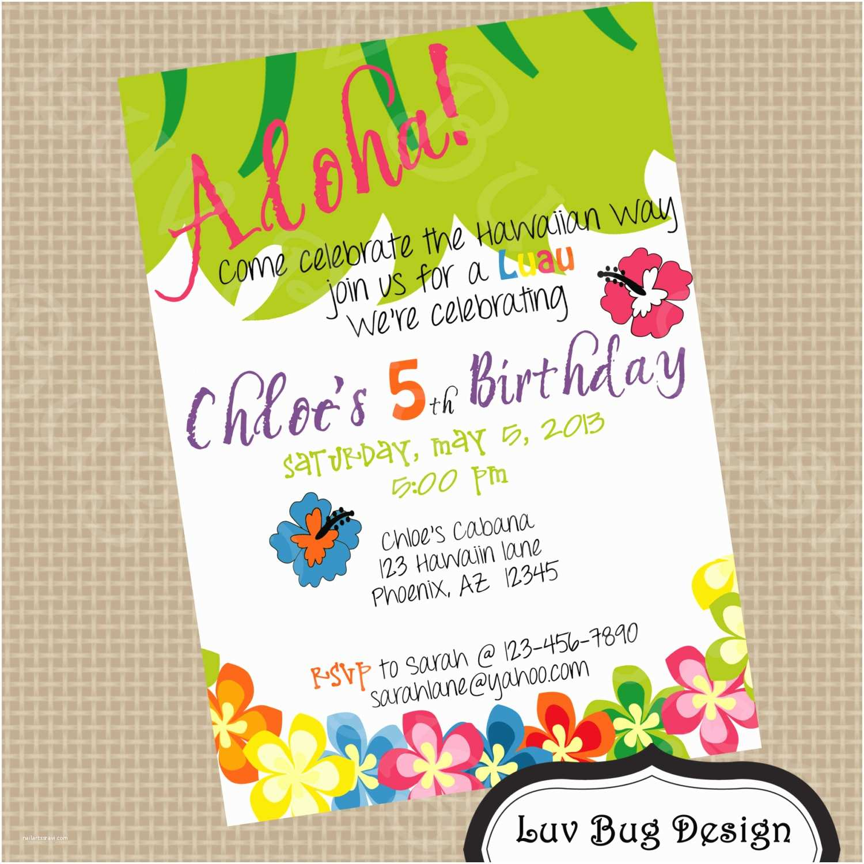 5th Birthday Invitation Wording Party