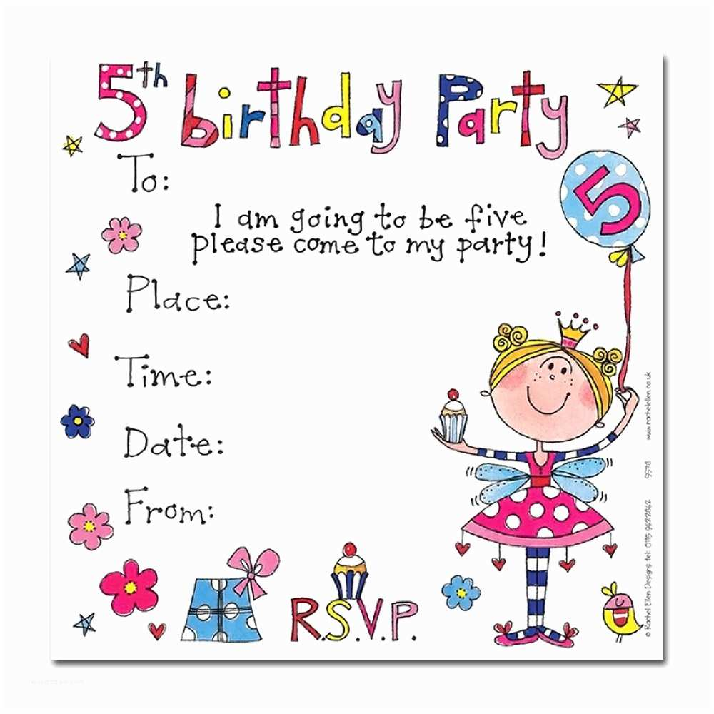5th Birthday Invitation Wording Party Invitations