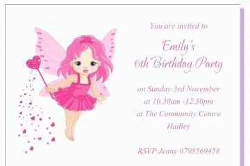 5th Birthday Invitation Wording For