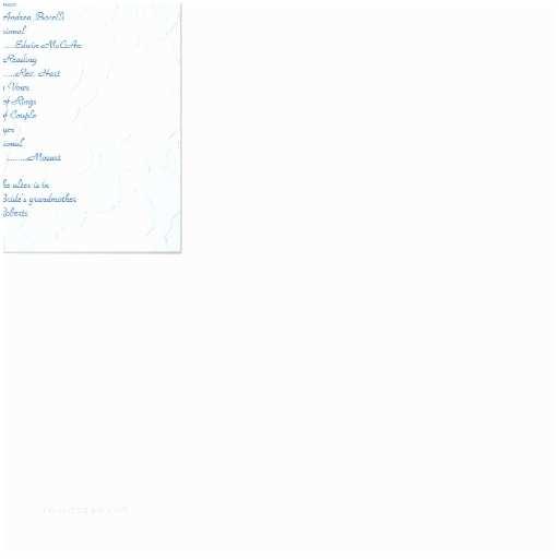 5x7 Wedding Invitation Paper Blue Hydrangea 5x7 Wedding Program Template 5x7 Paper