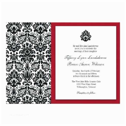 5x7 Wedding Invitation Paper Damask Wedding Template 5x7 Paper Invitation Card