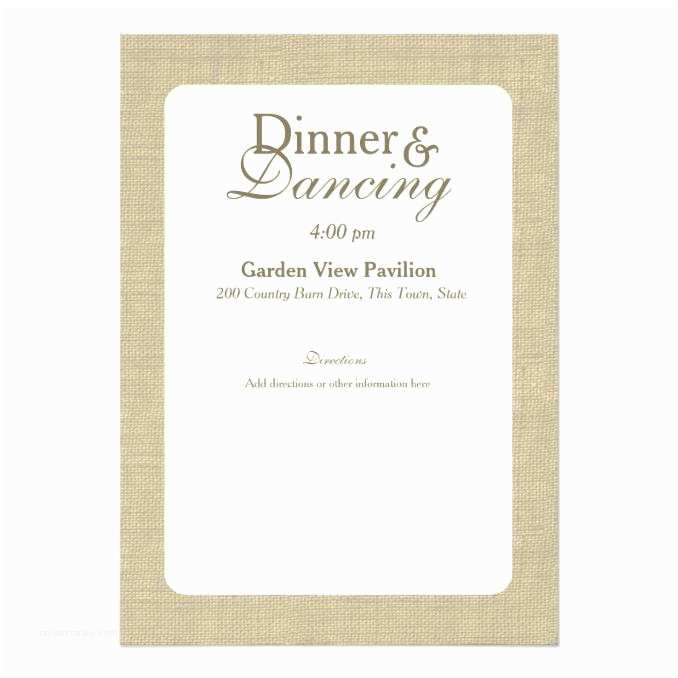 5x7 Wedding Invitation Paper Elegant Country Wedding Information 5x7 Paper Invitation