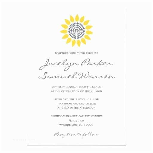 5x7 Wedding Invitation Paper Elegant Sunflower Wedding 5x7 Paper Invitation Card