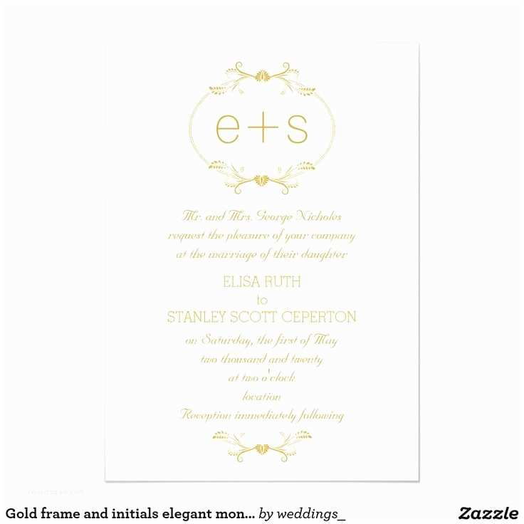 5x7 Wedding Invitation Paper Modern Peacock Love Birds Wedding Monogram 5x7 Paper