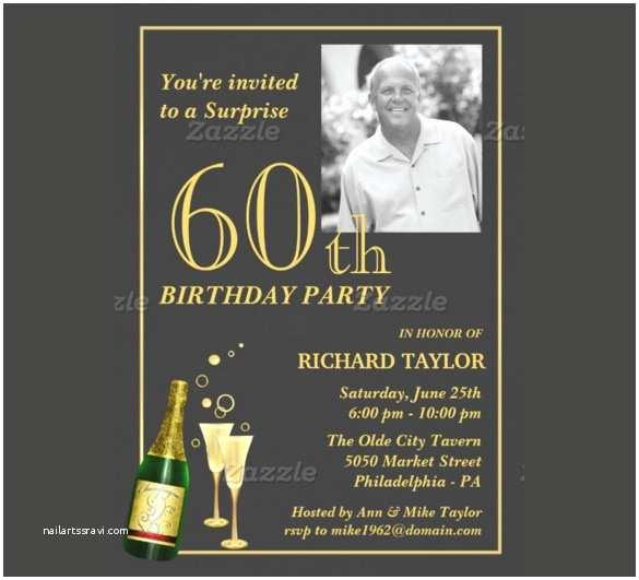 60 Birthday Invitations 60th Birthday Invitations for Him