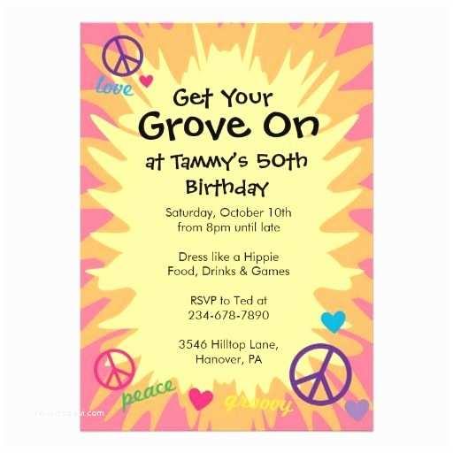 60 Birthday Invitations Groovy 60 S theme Party Invitations Pinterest