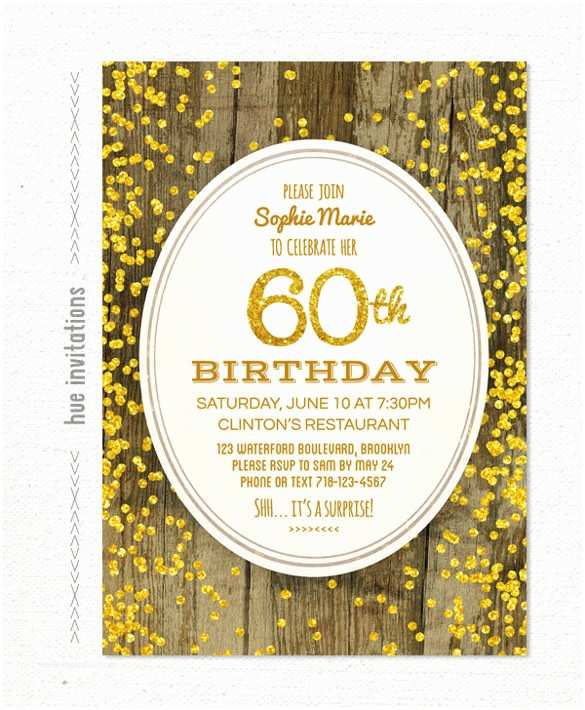 60th Birthday Invitation 22 60th Birthday Invitation Templates – Free Sample