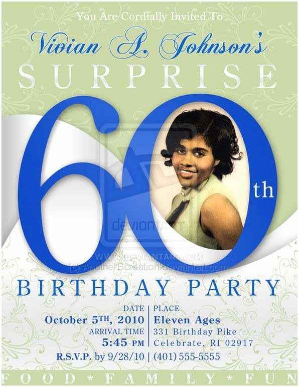 60th Birthday Invitation 60 Birthday Party Invites