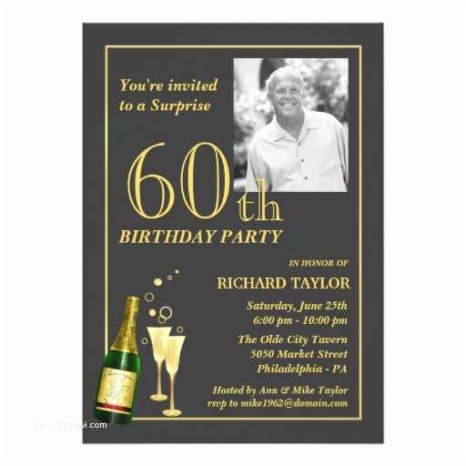 60th Birthday Invitation Customised 60th Birthday Party Invitations 13 Cm X 18 Cm