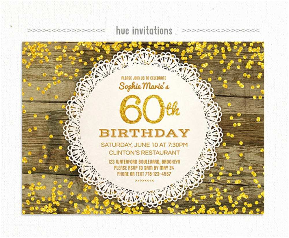 60th Birthday Invitation Ideas 20 Party Invitations Card Templates