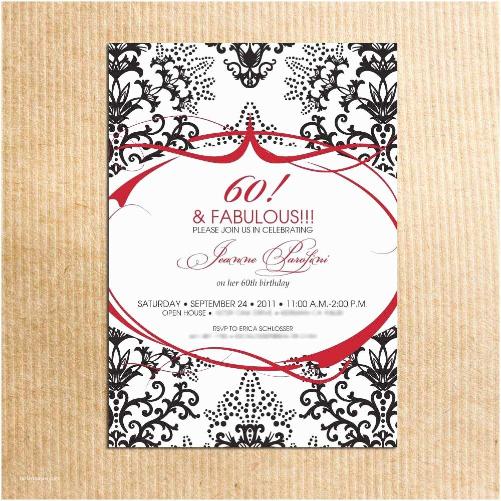 60th Birthday Invitation Ideas Template Free
