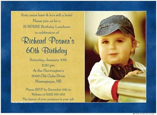 60th Birthday Invitation Ideas 60th Birthday Invitations for Men – Bagvania Free