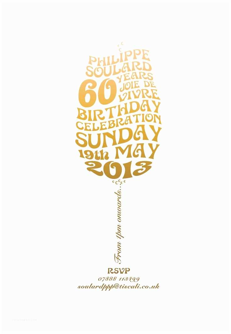 60th Birthday Invitation Ideas Invite Partee 60 Pinterest