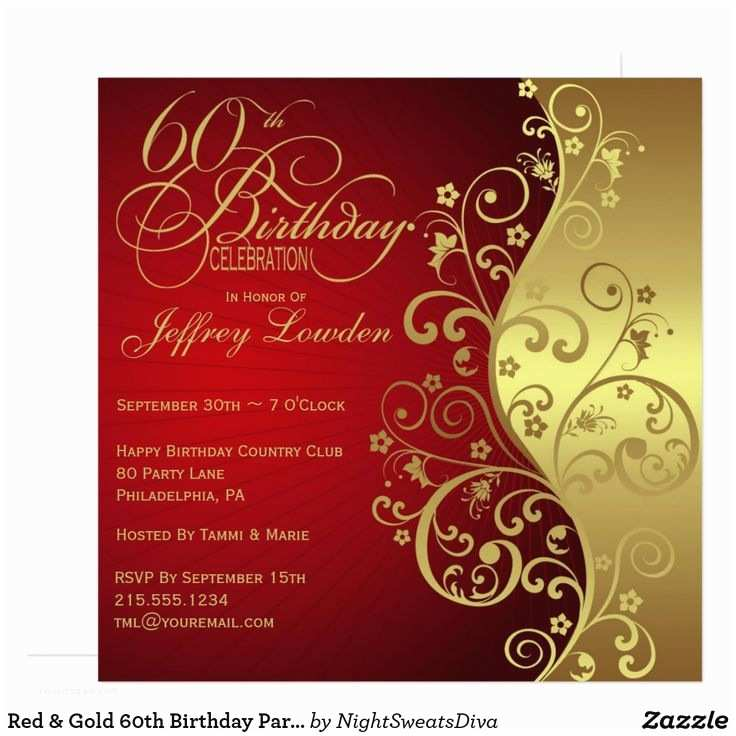 60th Birthday Invitation Ideas 96 Best Images About Birthday Invites 60th On Pinterest
