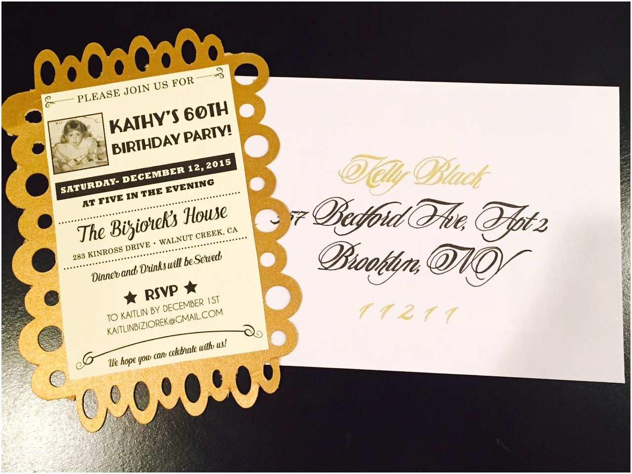 60th Birthday Invitation Ideas Golden Celebration Party For Mom
