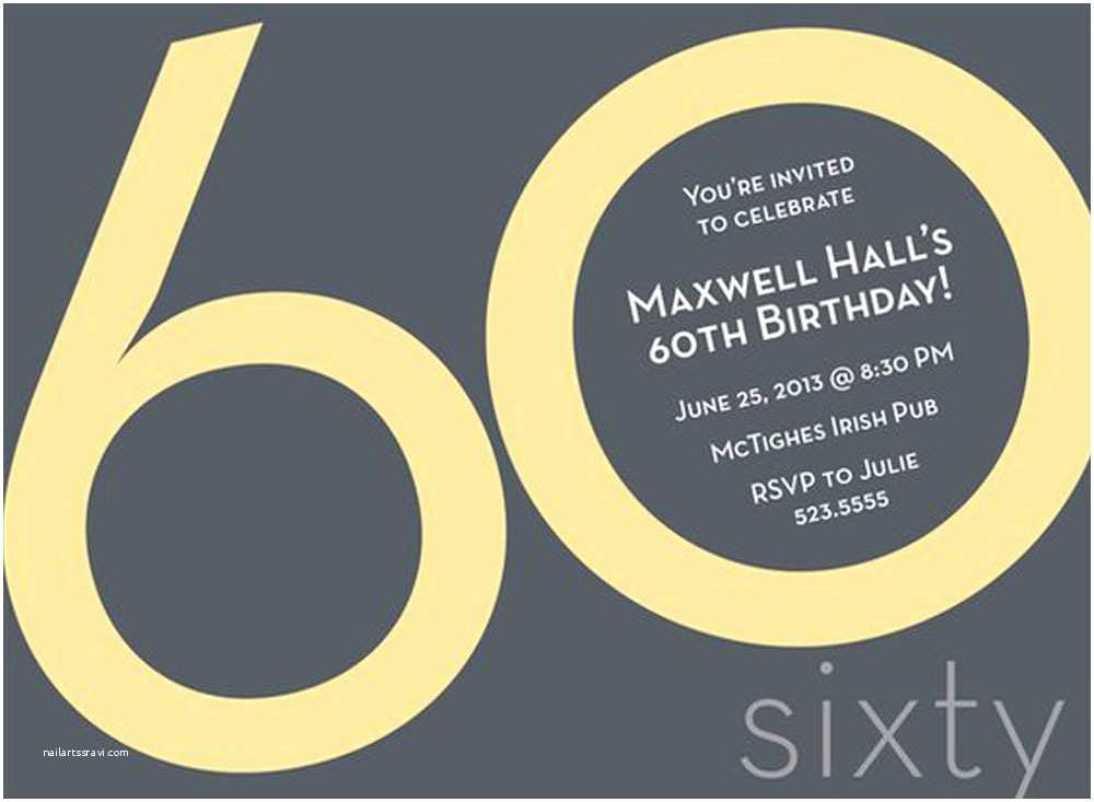 60th Birthday Invitation Wording 20 Ideas 60th Birthday Party Invitations Card Templates
