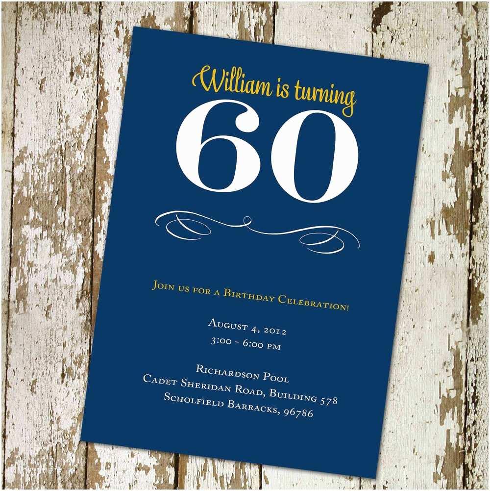 60th Birthday Invitation Wording 20 Ideas Party Invitations Card Templates