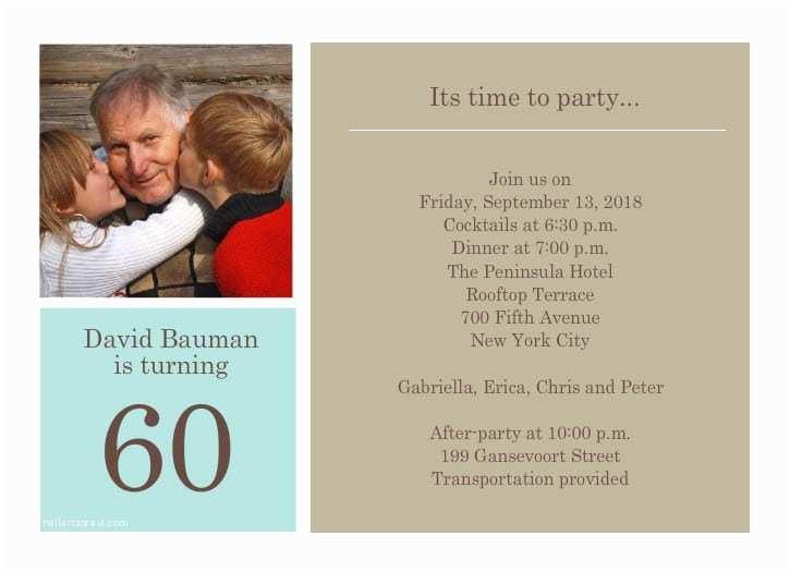 60th Birthday Invitation Wording 40th Ideas Party
