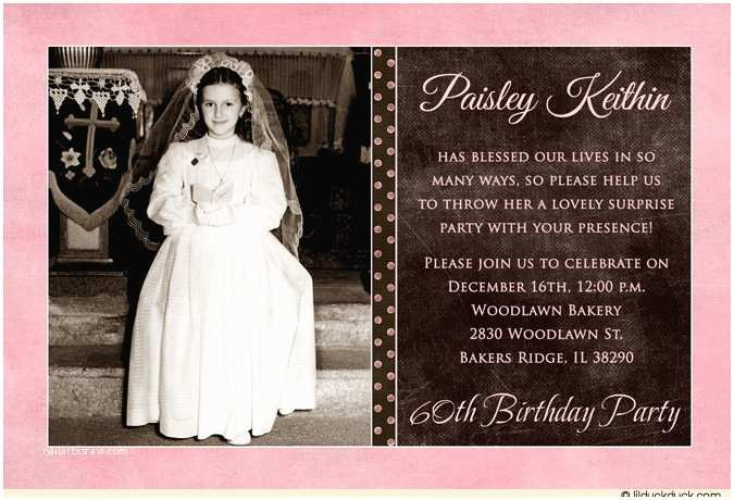 60th Birthday Invitation Wording Ideas