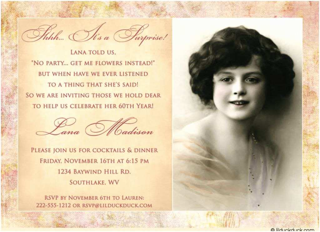 60th Birthday Invitation Wording Invitations
