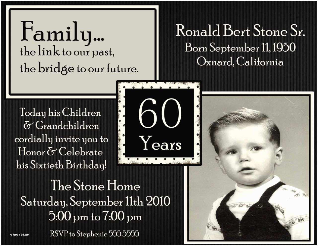 60th Birthday Invitation Wording 60th Birthday Party Invitations Wording