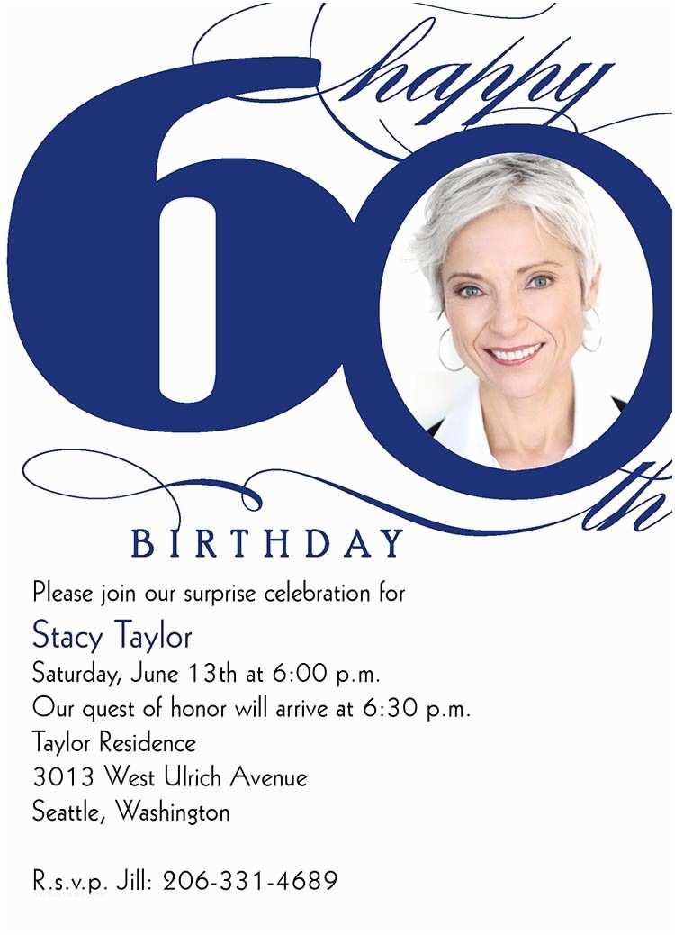 60th Birthday Invitation Wording 60th Milestone Birthday Birthday Invitations From